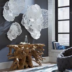 Flower Wall Art in White Liveshot 002