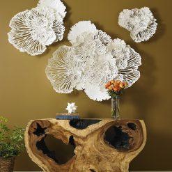 Flower Wall Art in White Liveshot
