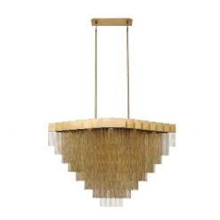 Le Fou 47 inch chandelier in antique brush gold