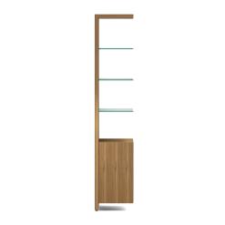 Linea 5801A Shelf in Natural Walnut