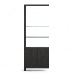 Linea 5802A Shelf in Charcoal Stained Ash