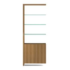 Linea 5802A Shelf in Natural Walnut