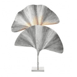 Shoreline Table Lamp in Tarnished Silver