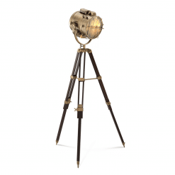 Spotlight Floor Lamp in Brass Finish