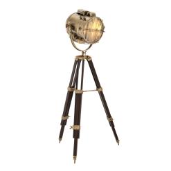 Spotlight Floor Lamp in Brass Finish Adjusted Height