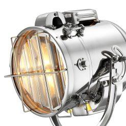 Spotlight Floor Lamp in Nickel Details scaled