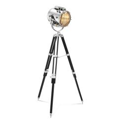 Spotlight Floor Lamp in Nickel Finish