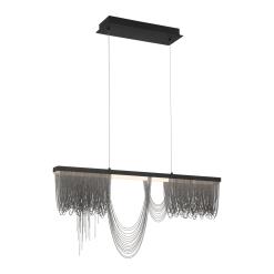 Tenda 35.50 inch chandelier in Black