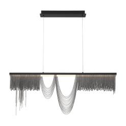 Tenda 47 inch chandelier in black