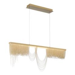Tenda 47 inch chandelier in gold