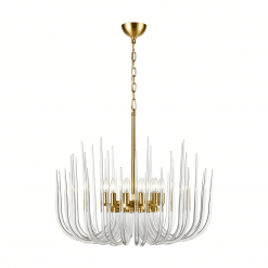 Astoria 12 Light Chandelier Polished Brass