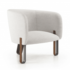 Cannon Lounge Chair in Birch Fabric Angle