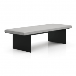 Chambers Bench in Pearl Grey Leather