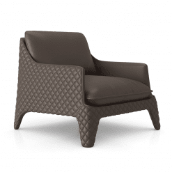 Chatham Lounge CHair in Fendi Leather