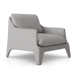 Chatham Lounge CHair in Pearl Grey Leather