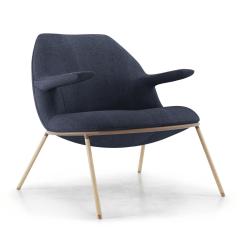 Gansevoort Lounge Chair in Medieval Blue