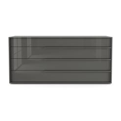 Jane Dresser in Glossy Dark Gull Grey