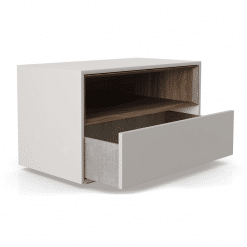 Madison Nightstand in Matte Chateau Grey Open