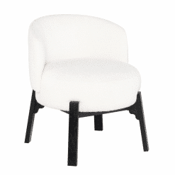 Adelaide Dining Chair in Buttermilk Boucle