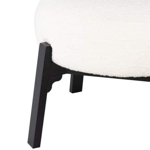 Adelaide Dining Chair in Buttermilk Boucle Details