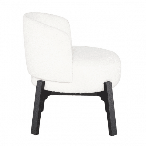 Adelaide Dining Chair in Buttermilk Boucle Side
