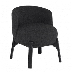 Adelaide Dining Chair in Licorice Boucle