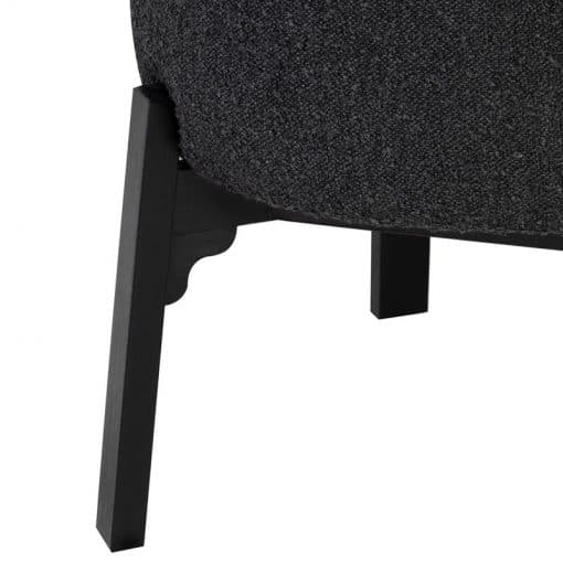 Adelaide Dining Chair in Licorice Boucle Details