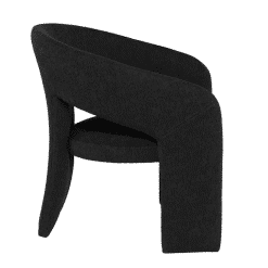 Anise Accent Chair in Activated Charcoal Side