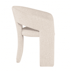 Anise Dining Chair in Shell Boucle Side