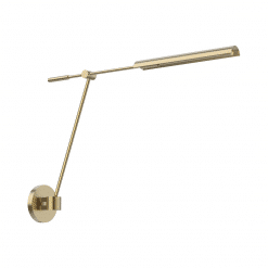 Astrid Swing Arm Wall Sconce in Vintage Brass