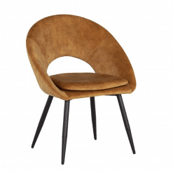 Capaldi Dining Chair in Nono Tapenade Gold
