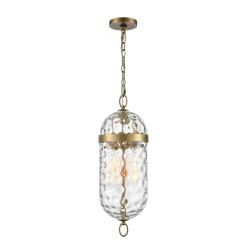 Capsula Pendant in Vintage Brass