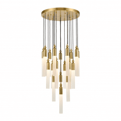 Fusion Chandelier in Aged Brass