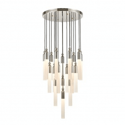 Fusion Chandelier in Polished Nickel