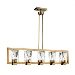 Horizon Linear Chandelier in Aged Brass
