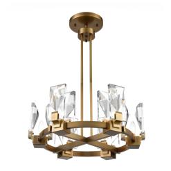 Horizon W Chandelier in Aged Brass