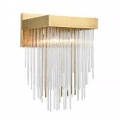 Waterfall Wall Sconce in Aged Brass