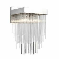Waterfall Wall Sconce in Polished Nickel