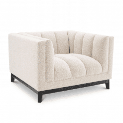 Adamede Lounge Chair in Boucle Cream