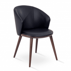 Athena Armchair in Black PPM FR