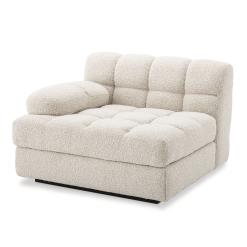 Britannia Left Side Sofa Seat in Boucle Cream