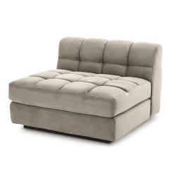 Britannia Middle Sofa Seat in Savona Greige Velvet