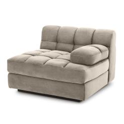 Britannia Right Side Sofa Seat in Savona Greige Velvet