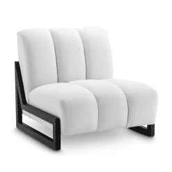 Cortana Lounge Chair in Avalon White