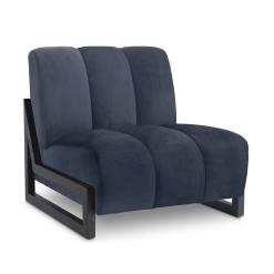 Cortana Lounge Chair in Savona Midnight Blue Velvet