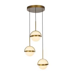 Globo Light Pendant in Satin Gold