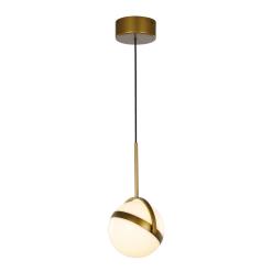 Globo Pendant in Satin Gold
