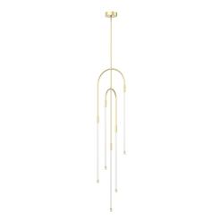 Honour Pendant in Natural Brass Light