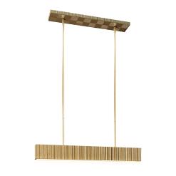 Kensington Linear Pendant in VIntage Brass