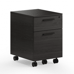 Linea Mobile File Cabinet in Charcoal